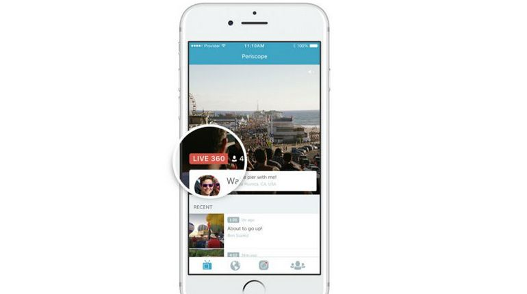 Video live a 360 gradi su Periscope e Teitter