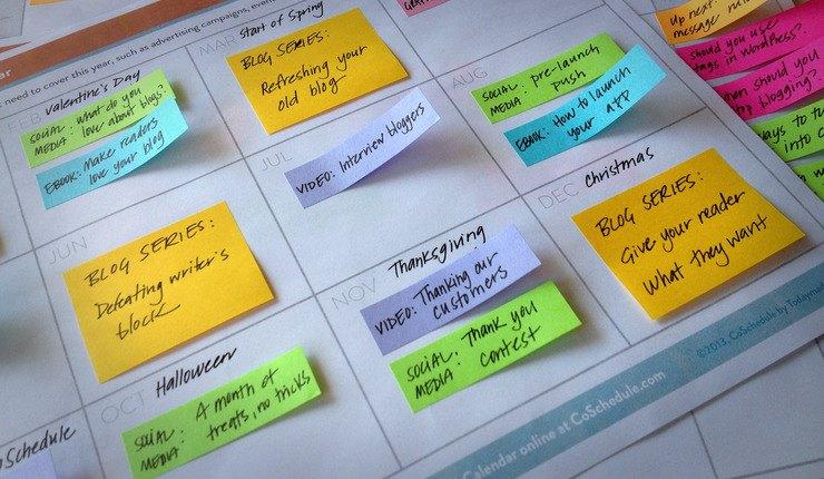 Creare un calendario editoriale