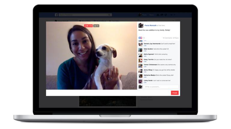 Facebook introduce i video in diretta da desktop per tutti gli utenti
