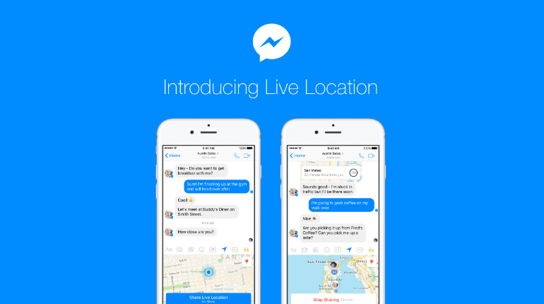 Facebook lancia Live Location per Messenger
