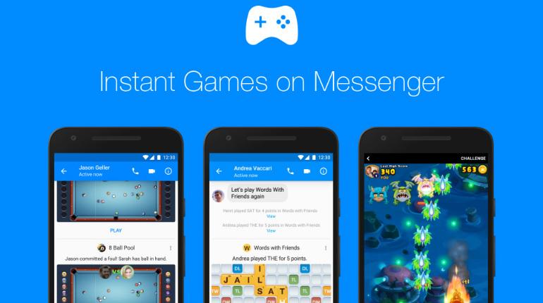 Facebook Messenger lancia gli Instant Games