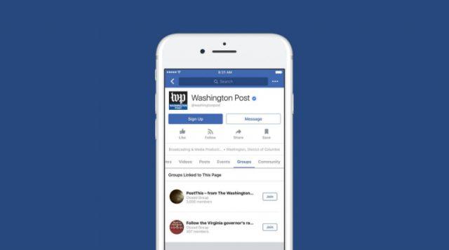 Facebook annuncia: arrivano i Gruppi collegati alle Pagine