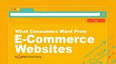 Cosa chiedono i consumatori a un sito di e-commerce? - Infografica
