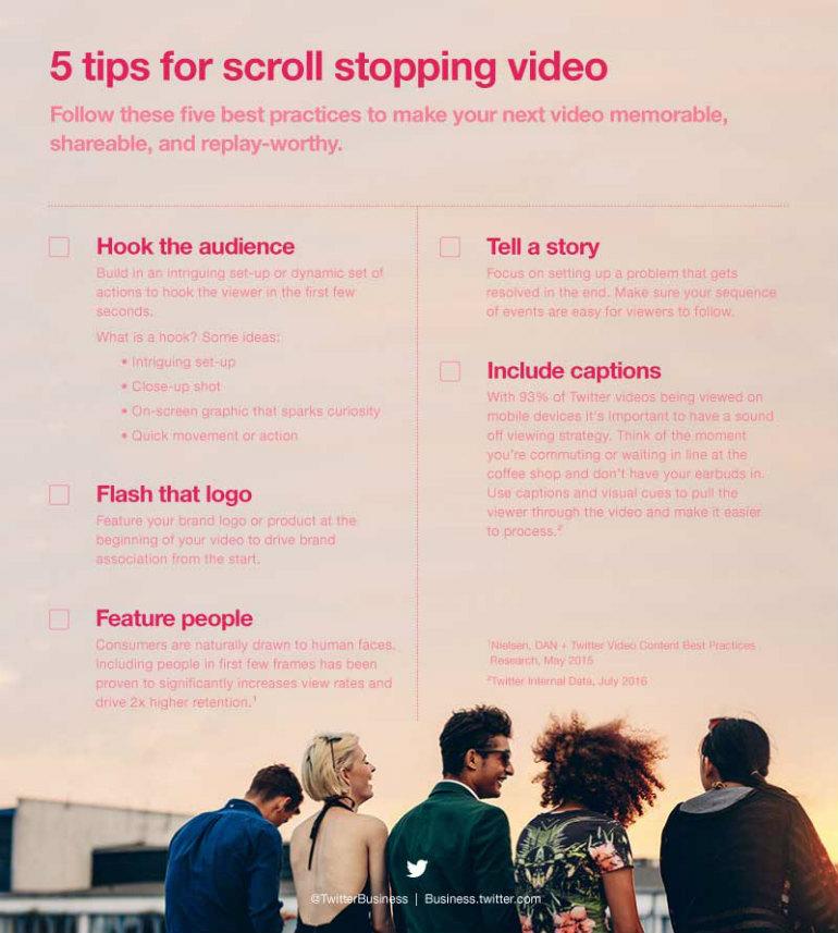 I consigli di Twitter per creare video a prova di scroll – Infografica