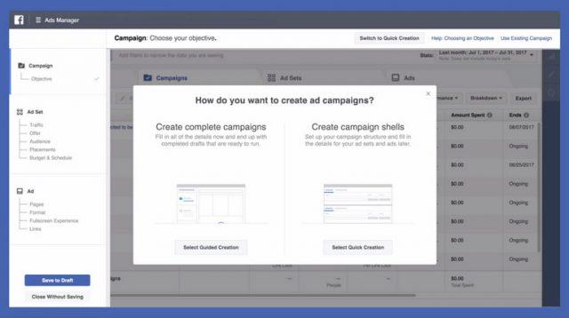 Nuovo strumento Gestione Inserzioni di Facebook