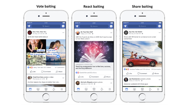 Facebook ha iniziato una lotta contro l'engagement bait