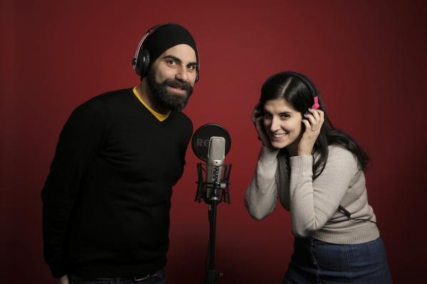 Giulia Depentor e Stefano Nucera, autori e protagonisti del podcast di Babbel 4 Verticale
