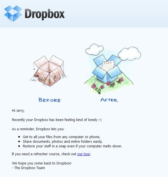 Email di dropbox