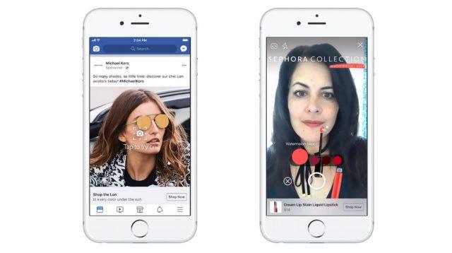 Facebook testa la realtà aumentata nell'advertising