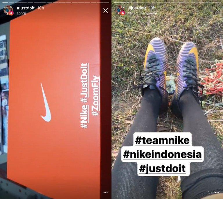 Gli hashtag creativi di Nike nelle Storie