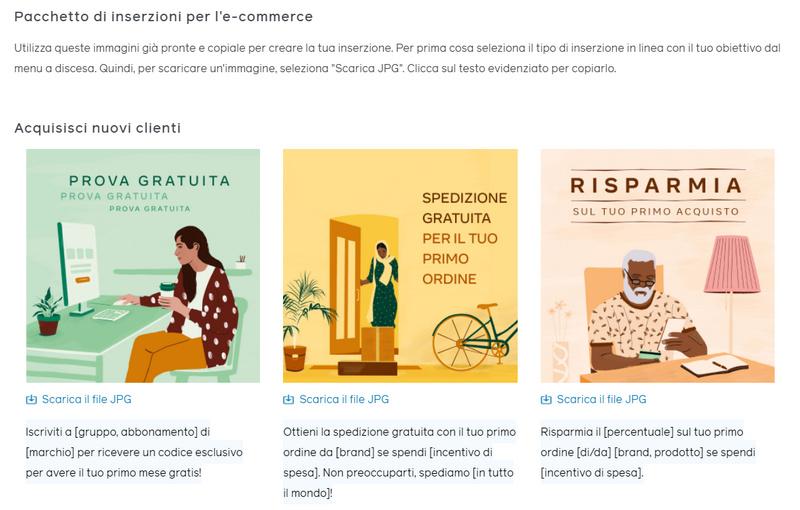 Campaign Ideas Generator, inserzioni pronte all'uso