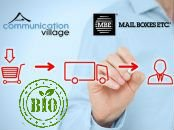 Partnership Communication Village e Mail Boxes Etc per logistica e-commerce bio